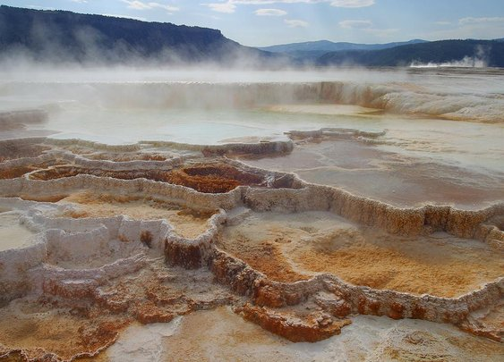 Man reduced to wallet and flip-flops during illegal soak in acidic Yellowstone hot pool