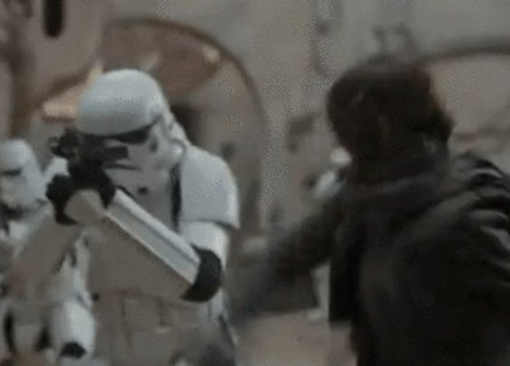 Jyn Erso Kicks Stormtrooper Butt in the First Clip From Rogue One