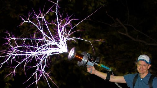 Handheld TESLA COIL GUN at 28,000fps