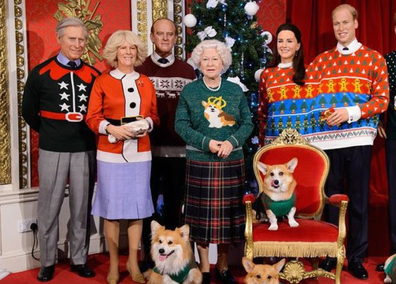The Royal Family in Ugly Christmas Sweaters