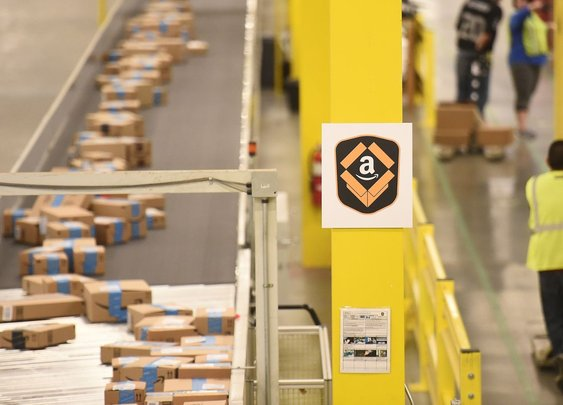 Amazon workers in Scotland are camping outside in the bitter cold