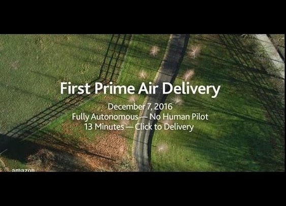 Amazon's First Drone Delivery