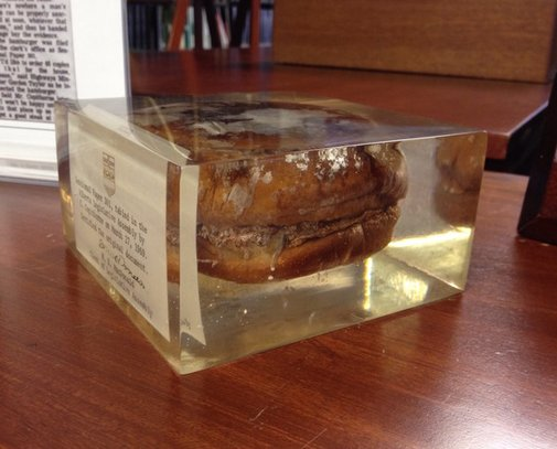 So There's a 47-Year-Old Burger Sitting in the Alberta Legislature Building | Atlas Obscura