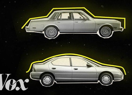 How the Shape of Cars Went From Boxy in the 1980s to Curvy in the 1990s