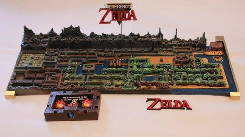 Original TheLegend of ZeldaMap Gets Printed In 3D