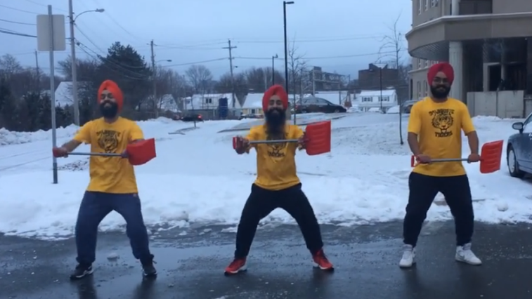 Bhangra dancers and Canadian winters