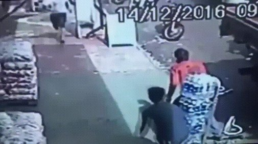 Delivery guy handles purse thief for police.