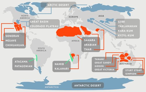Deserts of the World | The 7 Continents