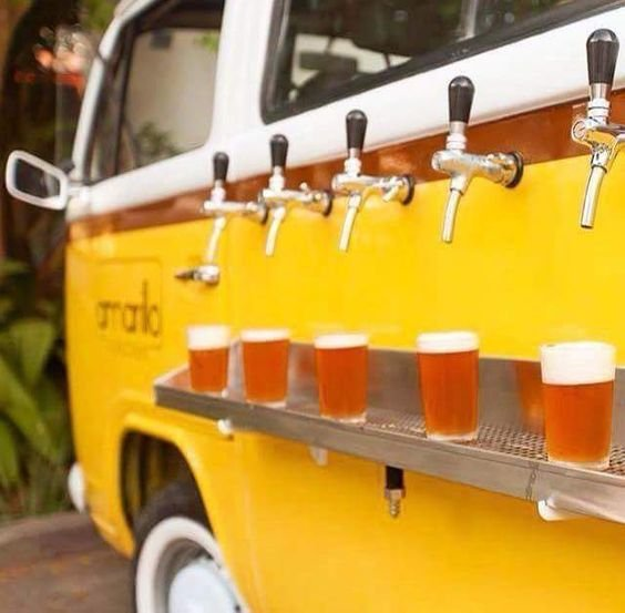Interesting Food VW Bus With Keg Tap On The Side