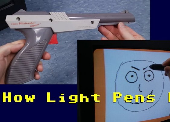 How light pens and light guns work NES Zapper