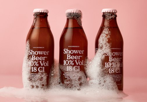 Shower Beer, A Petite Pink-Labeled Ale That Can Be Enjoyed While Getting Ready for a Night Out