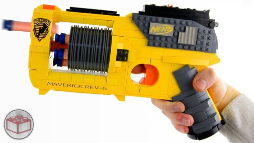 Working LEGO Nerf Gun