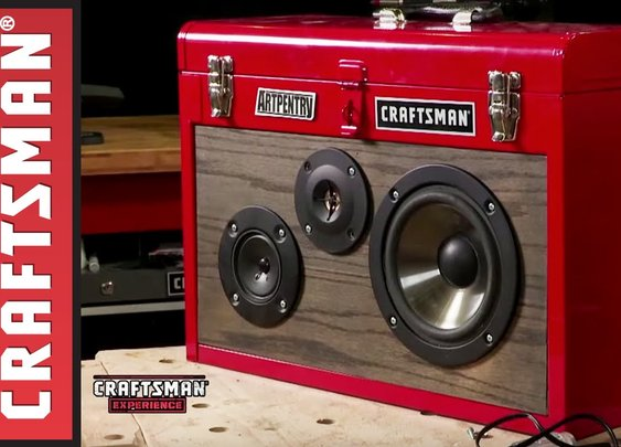 How to Make a Boombox from a Craftsman Tool Box