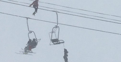 Heroic Man Rescues Unconscious Friend from Chairlift