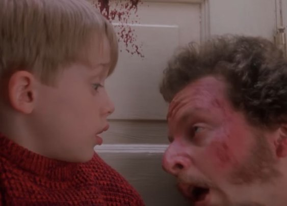 Someone added gore to Home Alone scenes, and they are much better