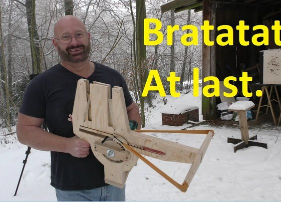 A Dream Came True: Home Made Full Auto Crossbow