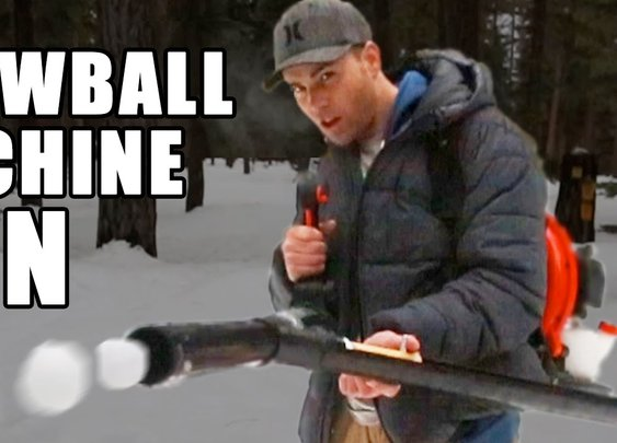 How to make a Snowball Machine Gun