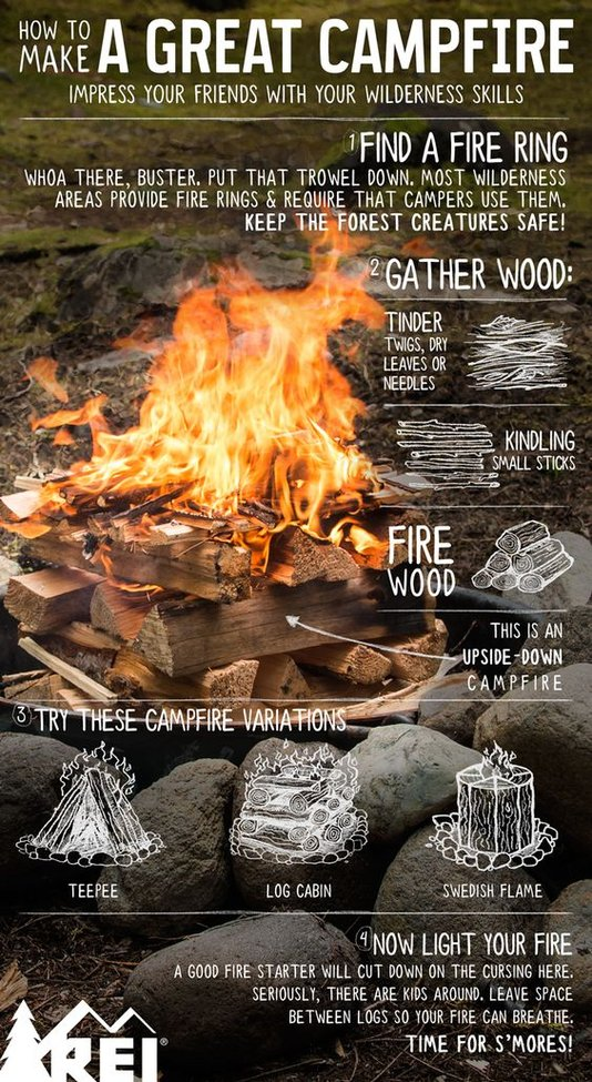 How to Make a Great Campfire