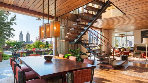 Huge NYC apartment is a nature-filled refuge in the sky