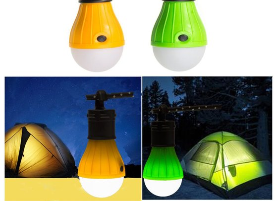 Hanging 3 LED Camping Tent Light Bulb Fishing Lantern Lamp