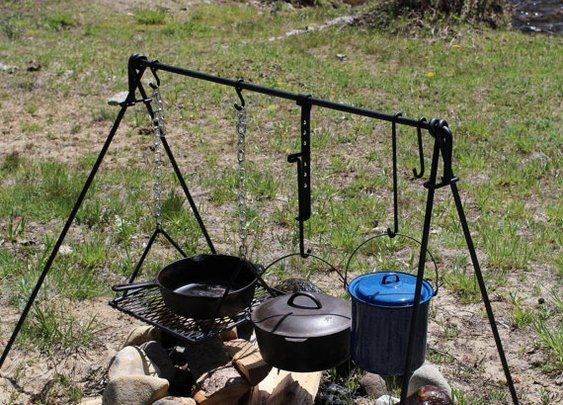 Folding Campfire Dutch Oven Cooking Grill