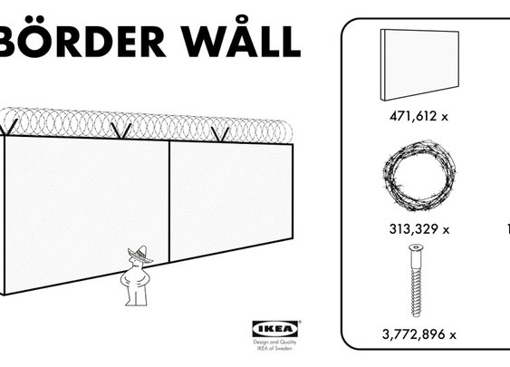 """Börder Wåll"": IKEA offers Trump an affordable solution"