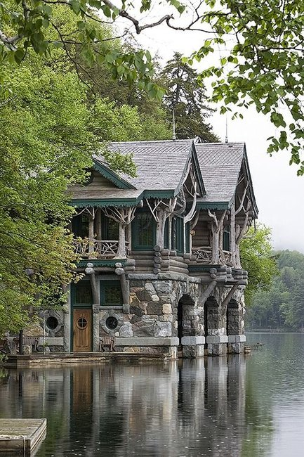 A Writer's Cabin on Lake Placid