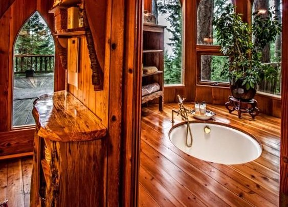 Amazing Wood Bathroom