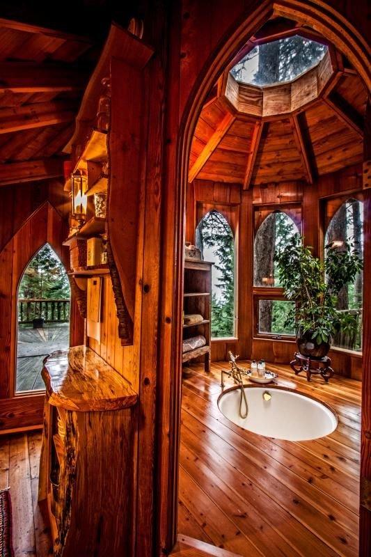 Amazing Wood Bathroom