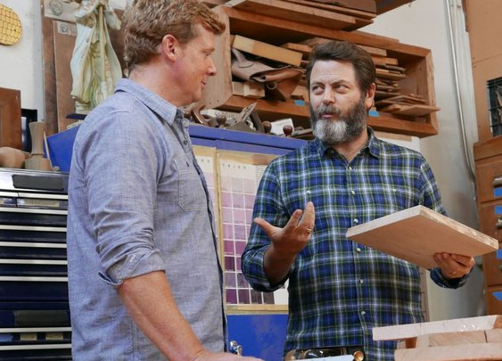 Nick Offerman opens his woodworking shop to This Old House