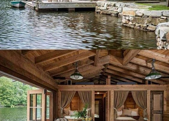 Lake House That Is Perfect For Fishing Off the Back Porch