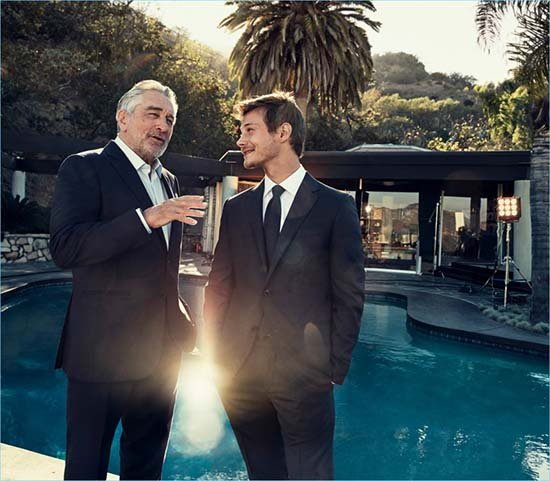 McCaul Lombardi and Robert De Niro star in Ermenegildo Zegna's Defining Moments campaign.