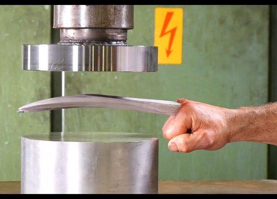 Adamantium vs Hydraulic Press (Language) - YouTube
