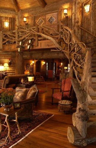 Log Cabin Stairway