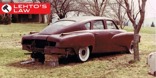 A $3 Million Tucker 48 Prototype Was Discovered Stuck in Mud Behind a Barn