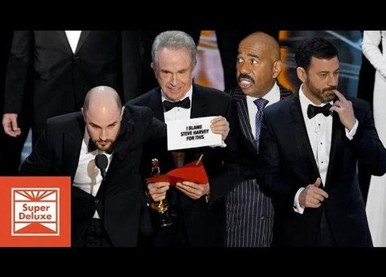 Steve Harvey Ruined The Oscars! [Super Deluxe]