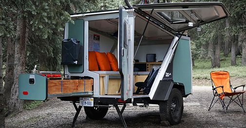 Rechargable Camper Trailer Provides a Week of Off-the-Grid Living
