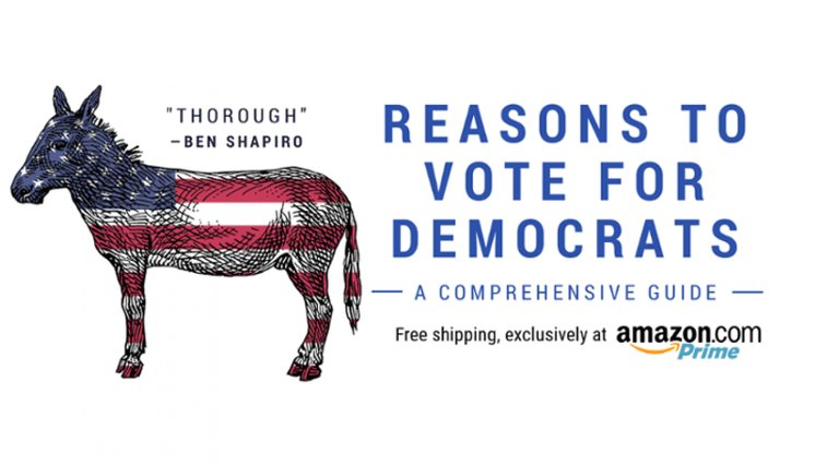 Troll Level 100: Blank Book Called 'Reasons To Vote For Democrats' Becomes Amazon Bestseller | Daily Wire
