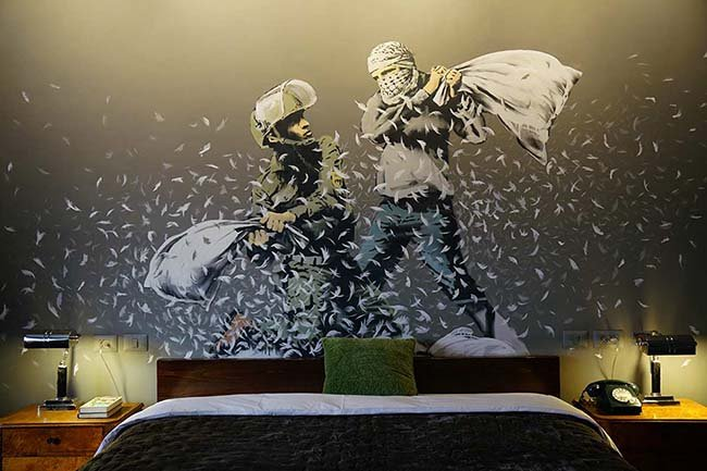 Banksy opens hotel in Bethlehem, and it has the 'Worst View In The World'