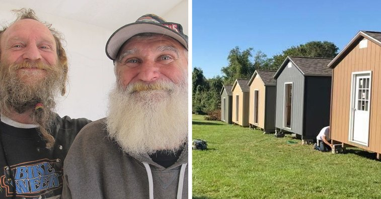 City Builds Tiny Village For Homeless Veterans With 50 Tiny Houses So They Could Live There For Fre