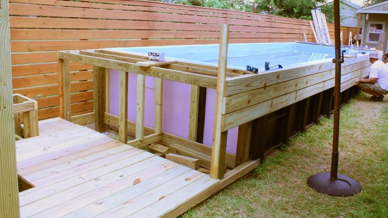 Swimming Pool Made From Dumpster