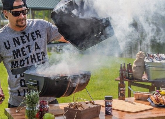 Kid Rock promotes American Badass Grills by shooting at foreign-made competition | Fox News