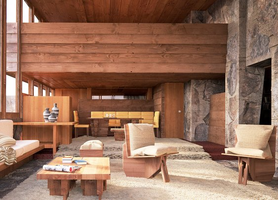 Beautiful Renderings Resurrect Frank Lloyd Wright's Demolished Buildings