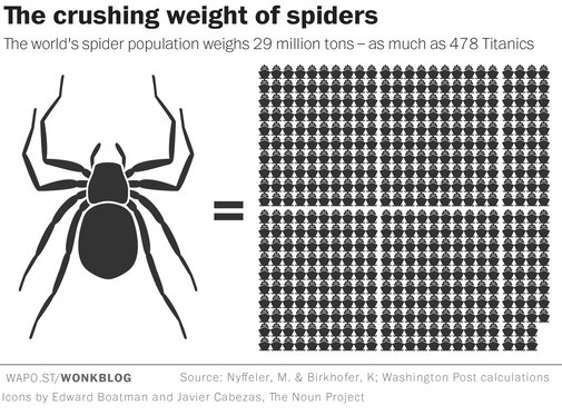 Spiders could theoretically eat every human on Earth in one year - The Washington Post