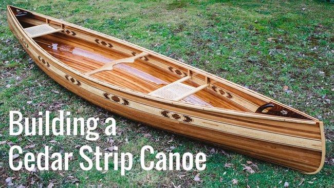 Boat building cedar kit strip