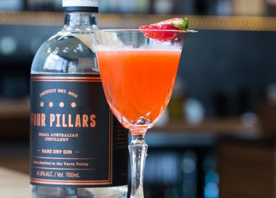 Mrs. Fitzgerald Is a Delicious Gin-Strawberry Cocktail