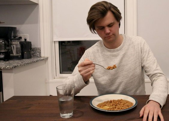 Man Suddenly Realizes He Was Duped By Commercial's Romanticized Vision Of Canned Beans