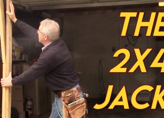 Jacking a House with a couple of 2x4s