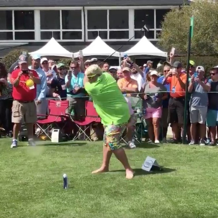 John Daly Hits Golf Ball off Beer Can, Proceeds to Chug Beer | Bleacher Report