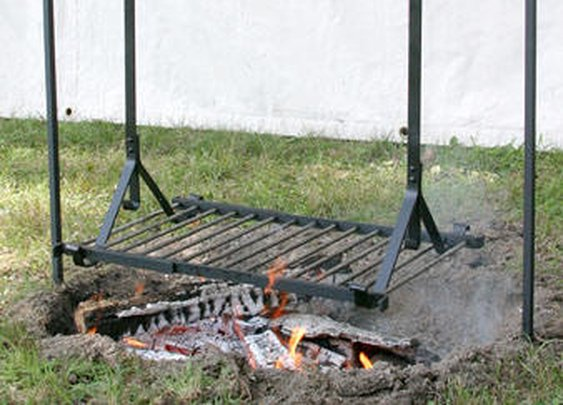 Wrought Iron Hanging Grills